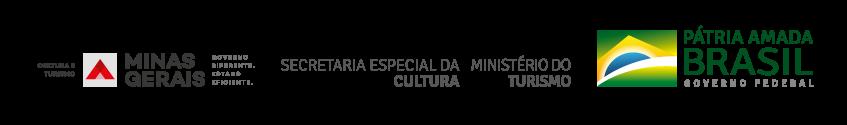 Régua: Secretaria Especial da Cultura, Ministério do Turismo, Governo Federal, Governo de Minas